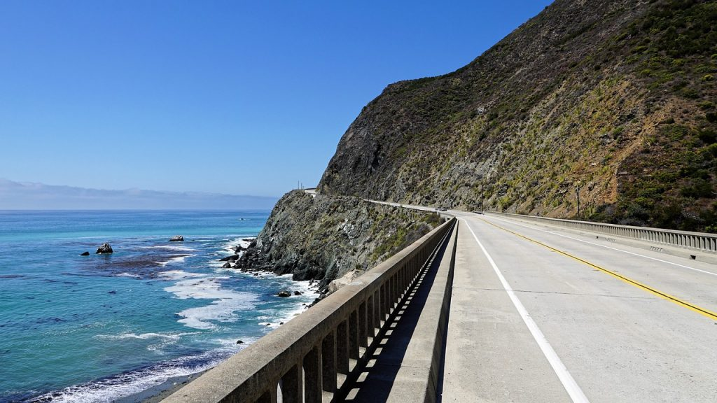 Best driving road in California highway 1