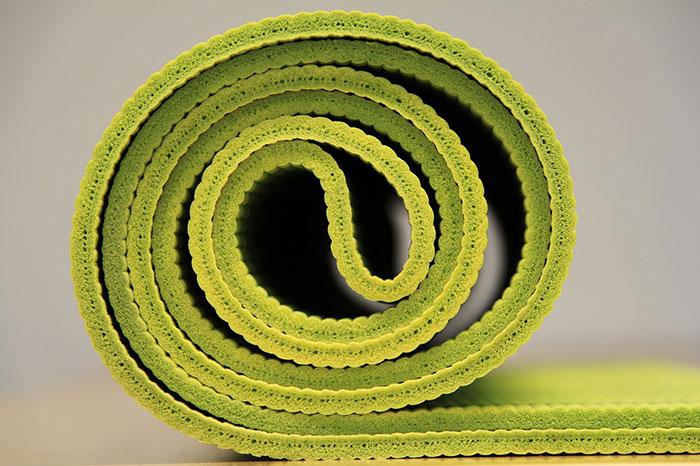 yellow yoga mat