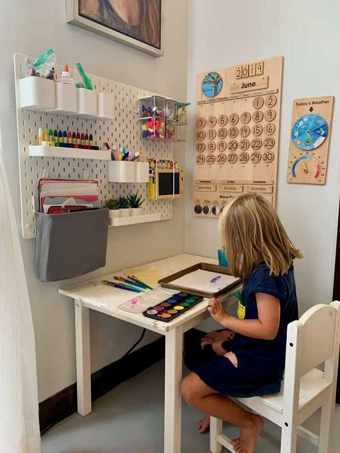 A Simple Home Classroom Setup
