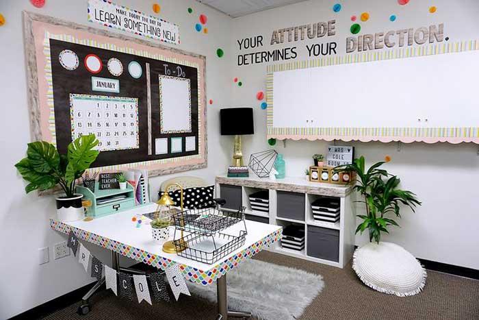 A Beautiful Home Classroom Setup