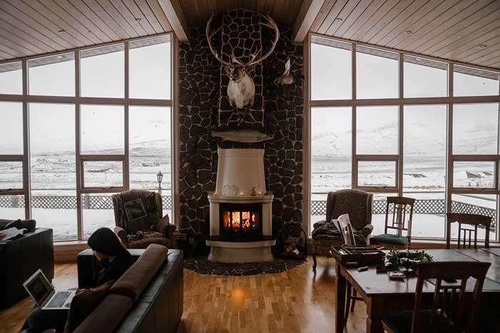 Loft Room Fire Place