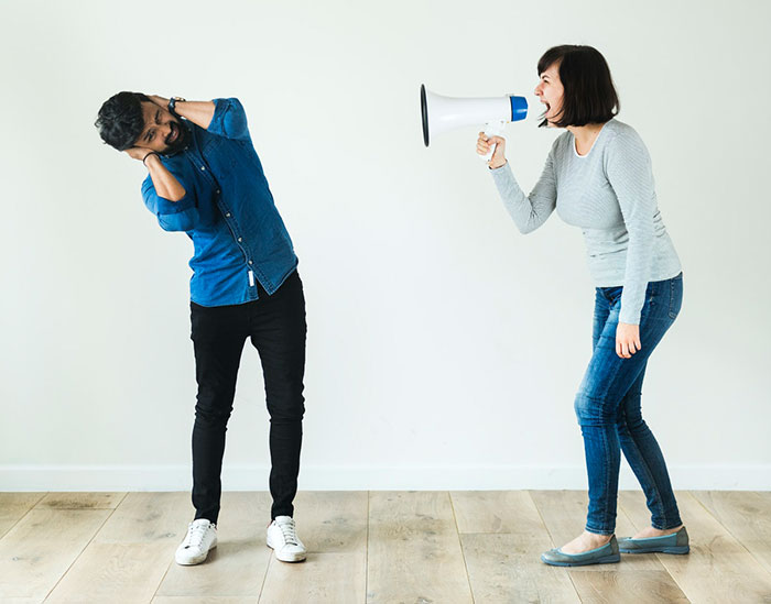 Shouting spouse is also Disrespect in marriage